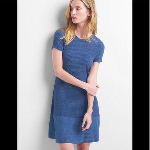 "Gap Ribbed "" Deep Cobalt "" Fit & Flare Dress"